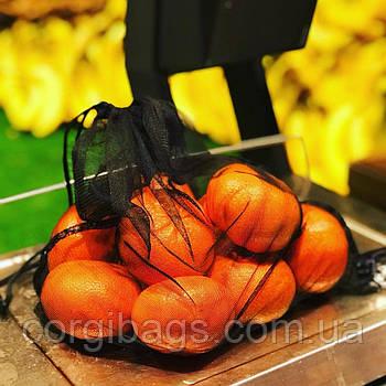 Многоразовые мешочки для продуктов, экомешочки из сетки, фруктовки, упаковка, размер М (27х30)