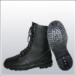 Ботинки (берцы) юфтевые ВФ демисезон ОМОН Бортопрошивные черные