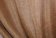 """Однотонная ткань """"Лён мешковина"""". Высота 2,8м. Цвет кофейный. 109ш"""