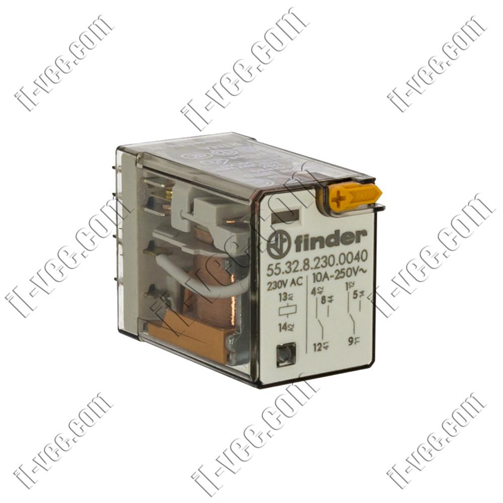 Реле FINDER 55.32.8.230.0040, 230VAC, 10А/250VAC 10А/30VDC