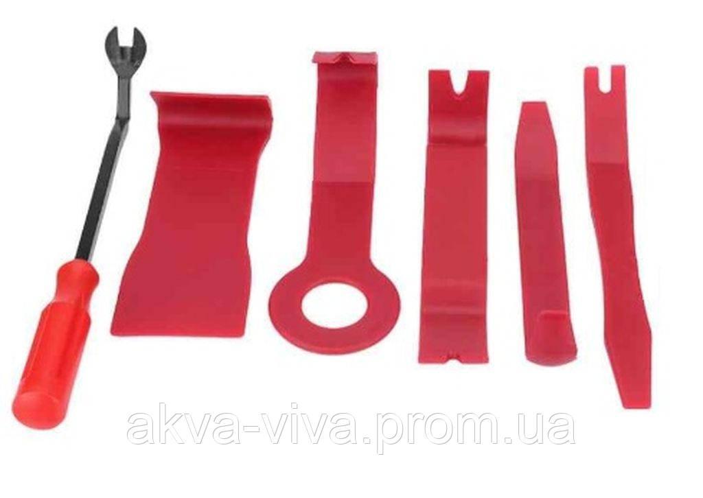 Инструменты для снятия обшивки (облицовки) авто (6 шт) (СО-6) Красный цвет