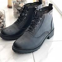 Женские кожаные зимние ботинки перфорация 37размер, фото 1