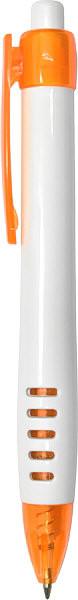 Пластиковые ручки CF09003 бело - оранжевая
