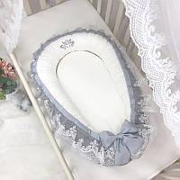 Кокон для новорожденных Royal серый
