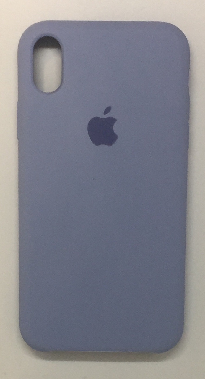 "Чехол Silicon iPhone Xr - ""Кремово-лиловый №5"""