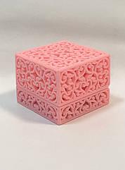 Футляр ажурный универсальный розовый бархатный W-01