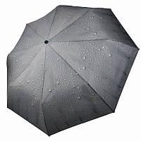 """Жіночий механічний парасольку """"Краплі дощу"""" від Feeling Rain, чорний, 305А-6, фото 1"""