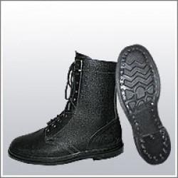 Ботинки (берцы) юфтевые ВФ Зима утепленные Мех Гвоздевые черные