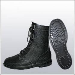 Ботинки (берцы) юфтевые ВФ Зима утепленные Мех Гвоздевые черные, фото 2