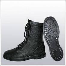 Ботинки (берцы) юфтевые ВФ утепленные (Мех) ОМОН Гвоздевые черные