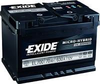 Акумулятор Exide Classic 70AH/720A (EL700)
