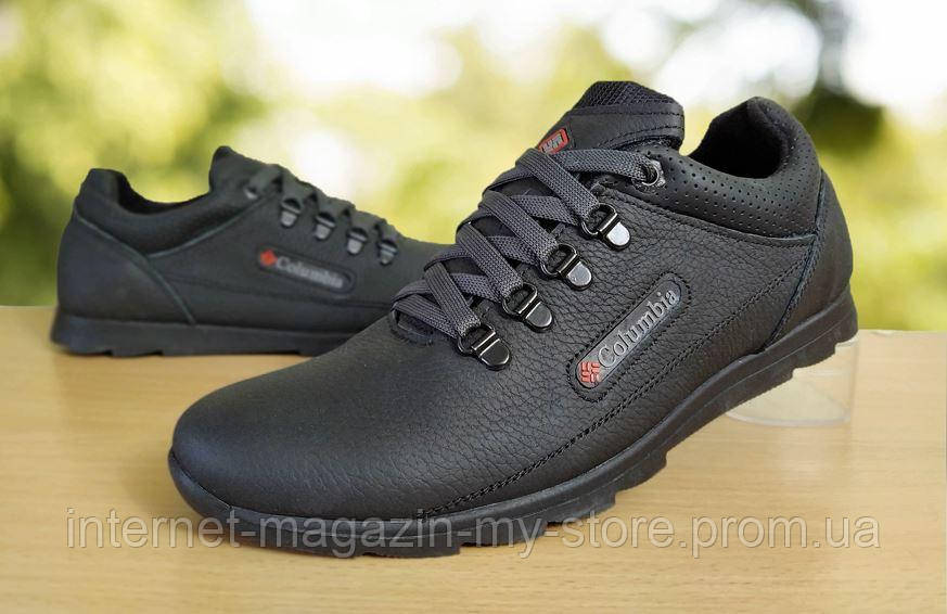 Мужские  кожаные кроссовки  Columbia