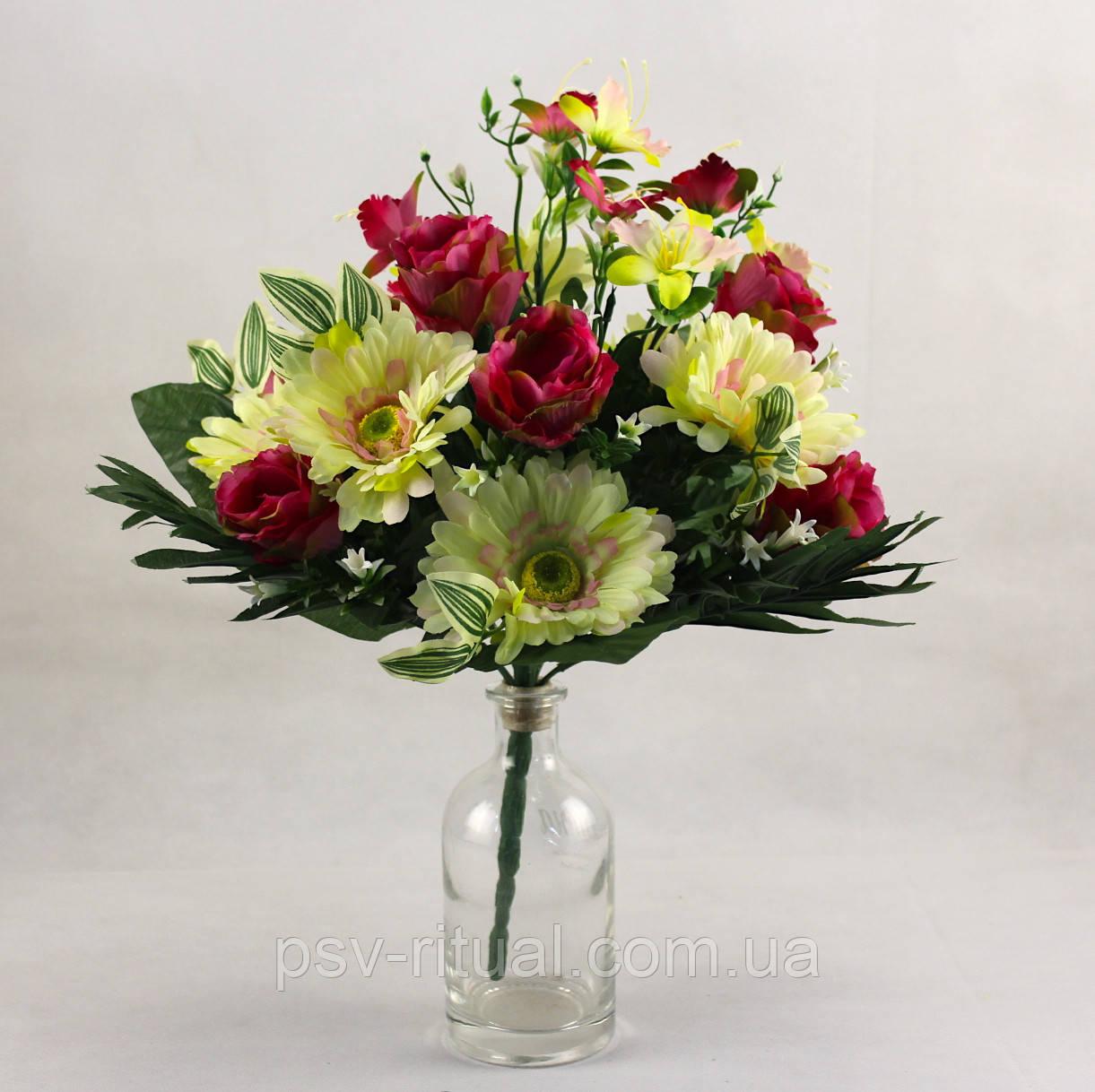 Троянда з ромашкою два кольори 16 голів