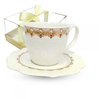 Чашка с блюдцем 220 мл Анжелика в подар.уп. 2320-5
