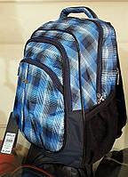 Рюкзак школьный спортивный городской модный ортопедический Dolly 520 голубой в клетку, фото 1