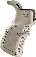 Рукоятка пистолетная FAB Defense AGR-43 прорезиненная для M4/M16/AR15. Цвет - песочный