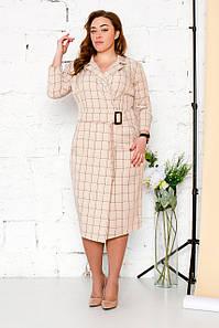 Клетчатое платье-пиджак 50-56 р