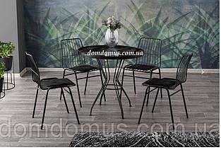 Стол  AHTAPOT masa (D80*75), корпус - металл, столешница - шпон ДСП , Mobilgen, Турция