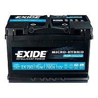 Акумулятор Exide Micro-Hybrid 70AH/760A (EK700)
