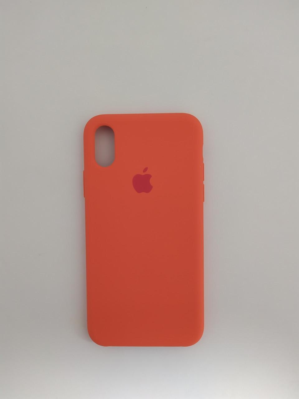 "Чехол Silicon iPhone Xs - ""Оранжевое настроение №13"""