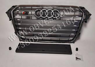 Решітка радіатора S4 для Audi A4 2012-2015 Grey