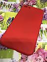Apple Iphone 7 чехол / бампер / накладка цветной силиконовый матовый красный, фото 2