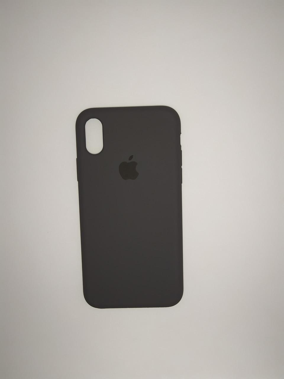 "Чехол Silicon iPhone Xs - ""Серый №15"""