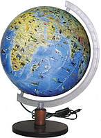Глобус ІПТ Загальногеографічний з тваринами з підсвічуванням 320 мм (4820114951267)