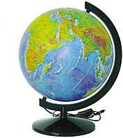 Глобус ІПТ Фізичний з підсвічуванням 320 мм (4820114952691)