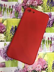 Apple Iphone 8 чехол / бампер / накладка цветной силиконовый матовый красный