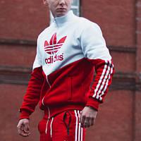 Худи-зиппер мужской Adidas Thrino красно-белый