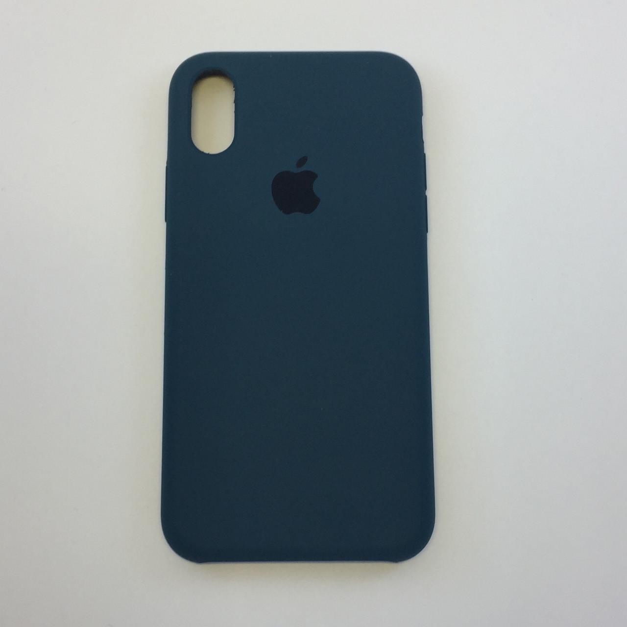 "Чехол Silicon iPhone Xs - ""Космический синий №35"""