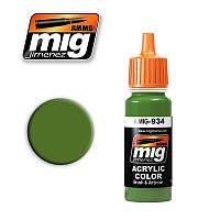 Краска для моделей. Советский ярко-зеленый 17 мл. AMMO MIG A.MIG-934