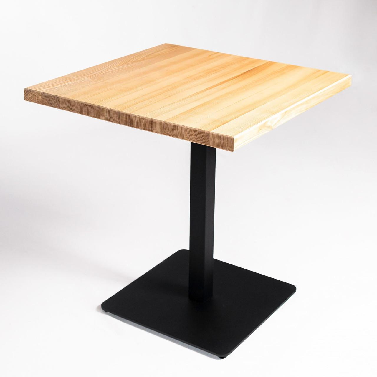 Оптом Столики для кафе HoReCa и ресторанов из массива дерева, опоры из металла