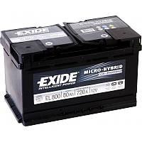 Акумулятор Exide Micro-Hybrid 80AH/720A (EL800)