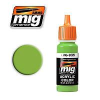 Краска для моделей. Советский зеленый Shine17 мл. AMMO MIG A.MIG-935