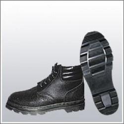 Ботинки рабочие комбинированные (юфть+кирза) ВФ демисезон мягкий кант Бортопрошивные черные