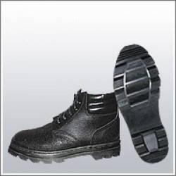 Ботинки рабочие комбинированные (юфть+кирза) ВФ демисезон мягкий кант Бортопрошивные черные, фото 2