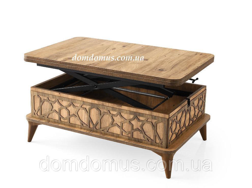 Стол трансформер на деревянных ножках 100*65*42 (130*100*75)