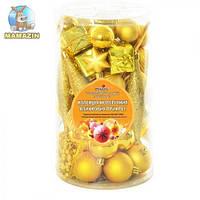 Елочные шарики ассорти 53шт в упаковке