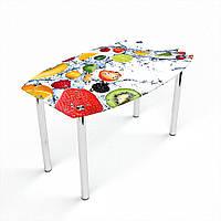 Стол обеденный на хромированных ножках Бочка Fruit Shake