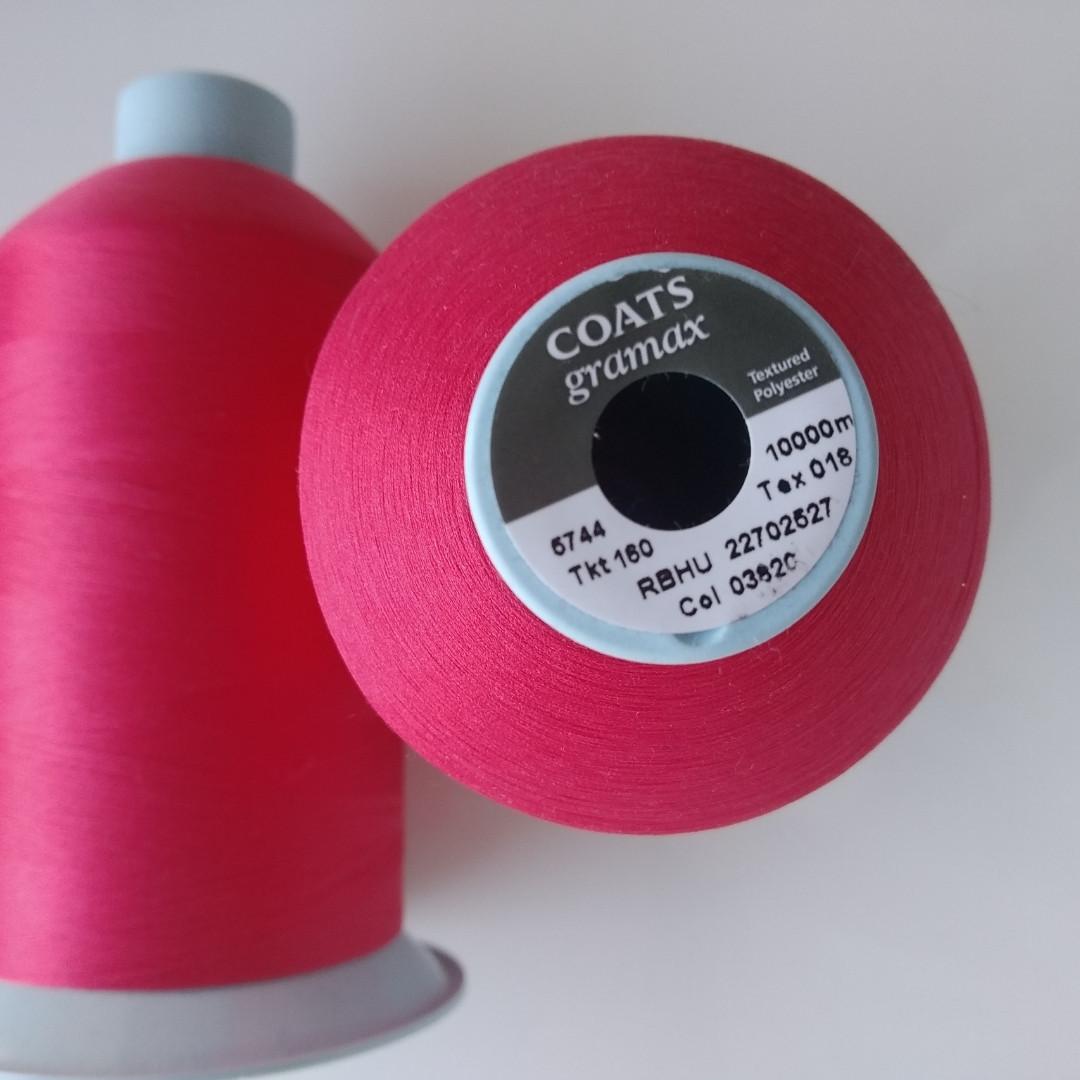 Текстурована нитка Coats gramax 160/ 10000v / 03820 чорний