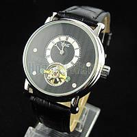 Элегантные механические наручные часы Jaragar Luxury Tourbillon Black с автоподзаводом