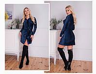 Женское вельветовое платье на кнопках (3расцв.) 42-46р., фото 1