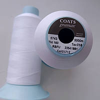 Текстурована нитка Coats gramax 160/ 5000м / 01712 білий