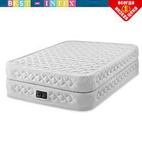 Надувная кровать Intex 64490 (152 х 203 х 51) Двухспальная + встроенный электрический насос, фото 1