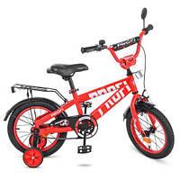 Велосипед PROF1 14 дюймов T14171 Flash красный высокопрочная сталь