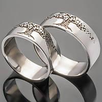 """Обручальные кольца из серебра """"Древо жизни"""""""