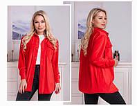 Женская стильная модная вельветовая рубашка на кнопках (3расцв) 42-46р, фото 1