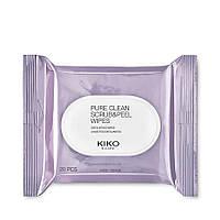 Скрабирующие серветки PURE CLEAN SCRUB&PEEL Kiko